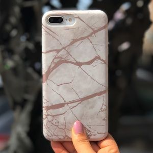 Protective Chrome marble iPhone 6/6s/6+/7/7+ case